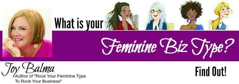 Joy Balma wrote the book on Feminine Biz Types!